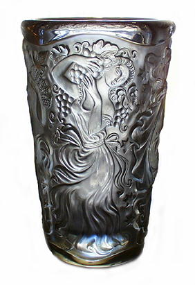 CZECH 1930's SIGNED ENGRAVED CAMEO GLASS VASE 4