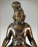 TIBETAN MAHASIDDHA BRONZE 16th Cent.