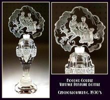 CZECH VINTAGE FIGURAL PERFUME BOTTLE / OPB017