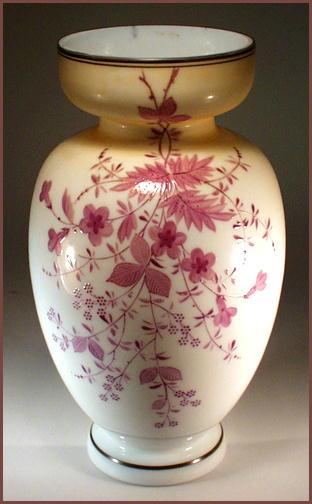 BEAUTIFUL ANTIQUE BRISTOL GLASS VASE GL10 /