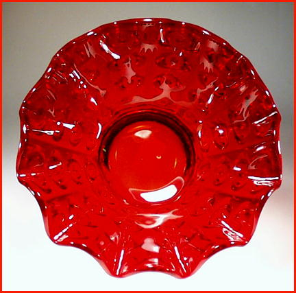 BEAUTIFUL RUBY RED COLOR GLASS BOWL GL13