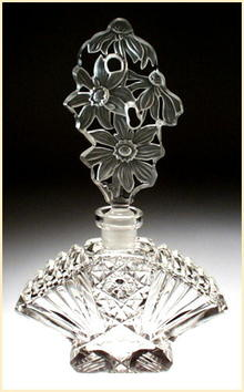 CZECH VINTAGE CUT CRYSTAL FIGURAL PERFUME