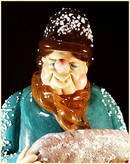 CZECH VINTAGE ART GLASS FIGURE BAKER NATIVITY