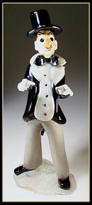 CZECH VINTAGE ART GLASS CLOWN CONDUCTOR