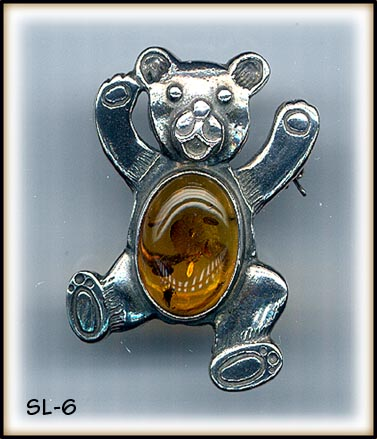 STERLING SILVER AMBER