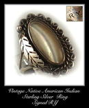 VINTAGE SIGNED AMERICAN INDIAN SILVER RING #83