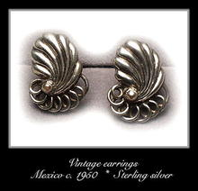 VINTAGE MEXICAN SILVER EARRINGS #100