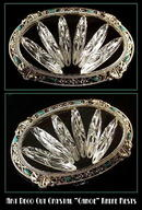 (6) ART DECO CUT CRYSTAL