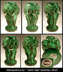CZECH SCHLEVOGT MALACHITE color GLASS VASE