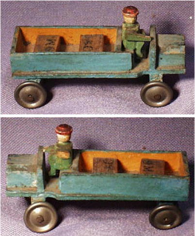ANTIQUE GERMAN WOODEN TOY TRUCK MS-26