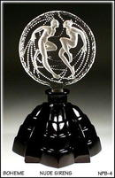 CZECH ART DECO SIRENS PERFUME BOTTLE NPB-4