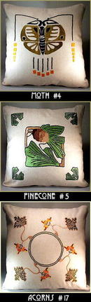 3 ARTS & CRAFTS MISSION EMBROIDERED PILLOW