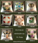 3 ARTS & CRAFTS MISSION EMBROIDERED PILLOWS