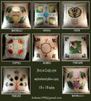 6 ARTS & CRAFTS MISSION EMBROIDERED PILLOWS