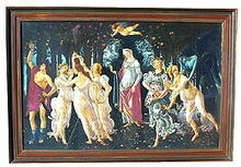 LA PRIMAVERA - BOTTICELLI - OLD FRAMED