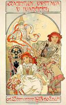 ORIGINAL MUCHA POSTER KRAJINSKA VYSTAVA 1912