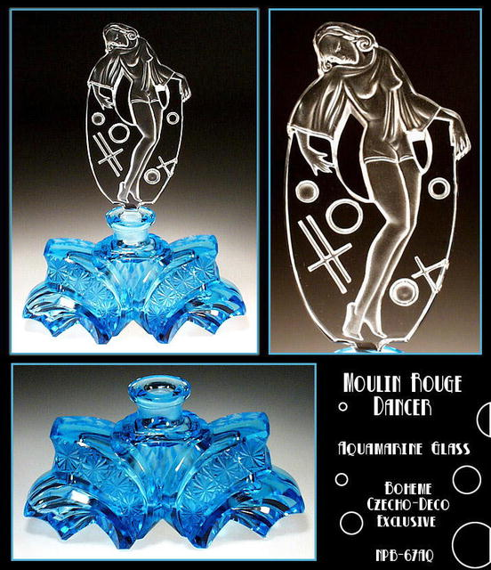 AQUA BLUE MOULIN ROUGE DANCER PERFUME BOTTLE