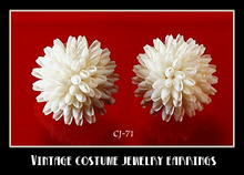 VINTAGE NATURAL SHELL CLUSTER EARRINGS CJ-71