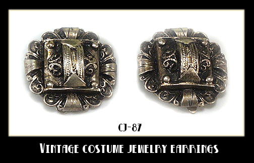 VINTAGE COSTUME JEWELRY EARRINGS CJ-87
