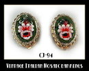 VINTAGE ITALIAN MOSAIC EARRINGS CJ-94
