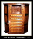 AESTHETIC MOVEMENT CORNER CABINET c.1900