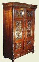 RENAISSANCE REVIVAL CARVED KNIGHTS ARMOIRE
