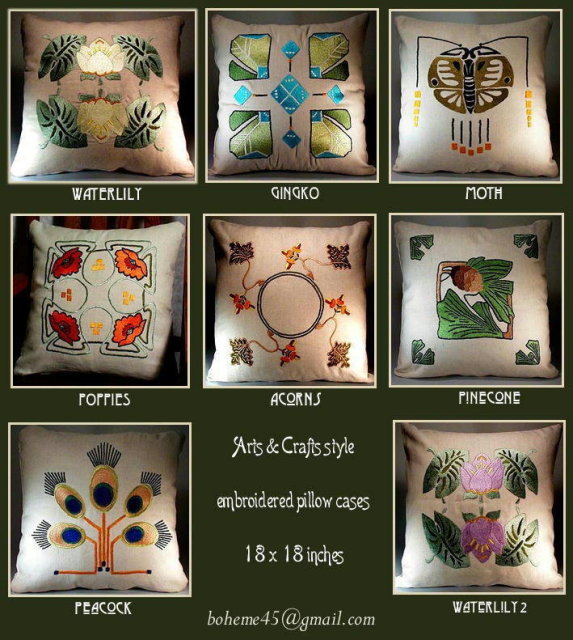 4 ARTS & CRATS EMBROIDERED PILLOWS
