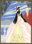 MAX NINON 1920's  ART DECO POCHOIR RIGOLETTO