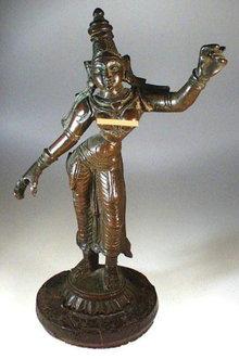 SRI DEVI LATE VIJAYANAGAR INDIAN BRONZE