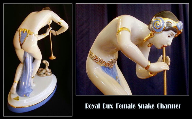 ROYAL DUX DECO FEMALE SNAKE CHARMER