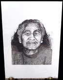 ORIGINAL SIGNED LITHO/ETCHING NATIVE MAORI 10B