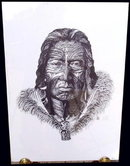 ORIGINAL SIGNED LITHO/ETCHING NATIVE MAORI 10C