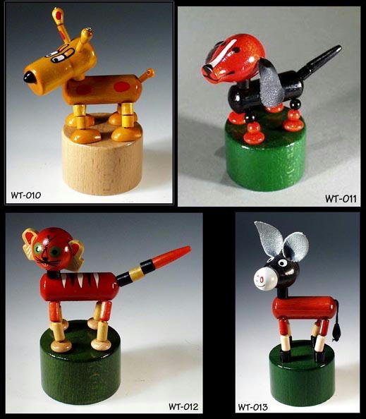 (8) JOINTED POP-UP WOODEN TOYS