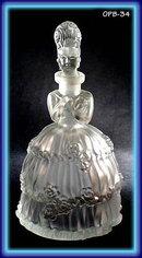 Czech figural perfume bottle Mme Pompadour