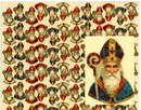 2 LARGE UNCUT OLD SCRAP SHEETS ST. NICHOLAS P10