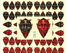 RARE LARGE UNCUT OLD SCRAP SHEET GREY/RED DEVIL