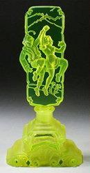 CZECH PERFUME BOTTLE VASELINE GLASS HANSEL &