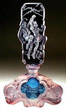 CZECH PERFUME BOTTLE LUSTER HANSEL & GRETEL