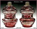 BOHEMIAN PERFUME BOTTLE BIEDERMEIER c.1850