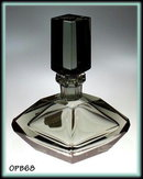 CZECH GEOMETRICAL ART DECO PERFUME BOTTLE