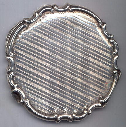 VIENNESE ART DECO SILVER COMPACT #42