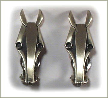STERLING SILVER ART DECO HORSE HEAD EARRINGS