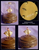 1930-40's VINTAGE MUSIC BOX DANCING BALLERINA