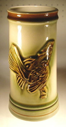 CZECH ART POTTERY D. URBACH GROUSE BEER STEIN
