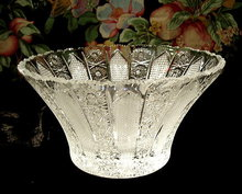 VINTAGE CZECH CUT CRYSTAL BOWL  #179