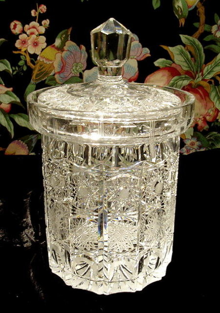 BEAUTIFUL CZECH CUT CRYSTAL ICE BUCKET #184