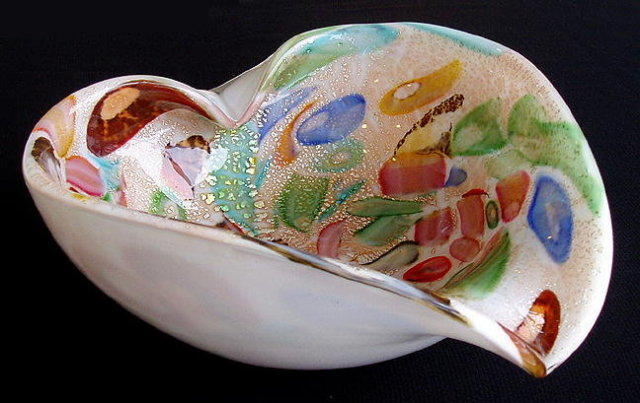 VINTAGE MURANO ITALIAN ART GLASS BOWL / ASHTRAY