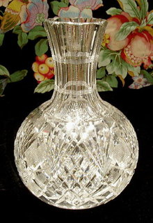 CUT GLASS CARAFE AMERICAN BRILLIANT PERIOD #57