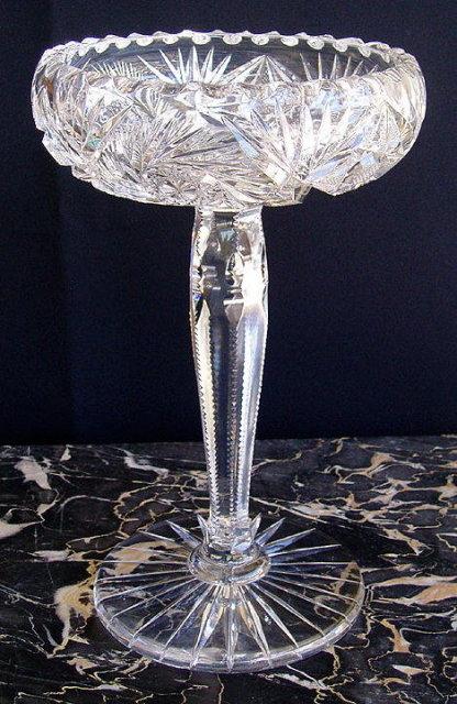 CUT GLASS COMPOTE AMERICAN BRILLIANT PERIOD #59