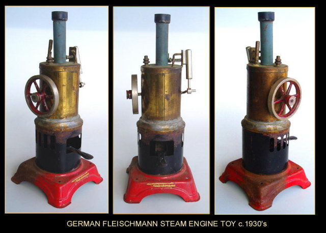GERMAN FLEISCHMANN STEAM ENGINE TOY c.1930's